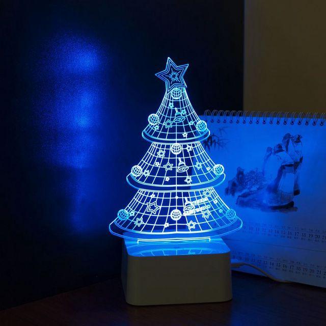 Cnhidee Nordic lâmpada de mesa levou luzes do partido da árvore de natal 3d Home Decor Lampada Decorativa como presentes criativos