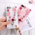 Case para iphone 7 7 plus fundas kisscase flor bonito veados acessórios coque silicone macio tpu capa para iphone 7 case telefone saco