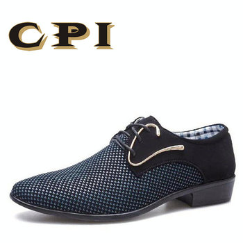 Patch Work Spring New Designer Business Men's Shoes