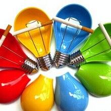 Высококачественная Модная креативная цветная в форме лампочки Меламиновый Пластик портативная пепельница