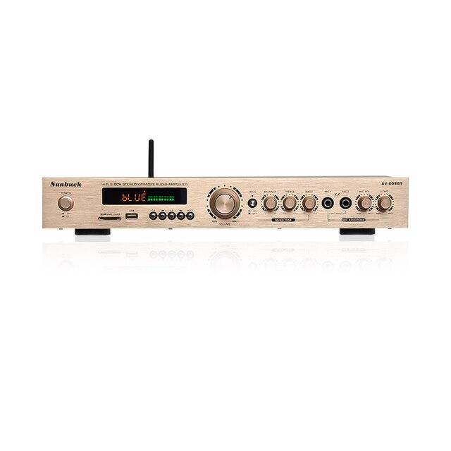 SUNBUCK 5 CH ハイファイ Bluetooth ステレオ AV アンプホームシアターオーディオプロのカラオケラジオ Bluetooth の電源アンプ 300 ワット