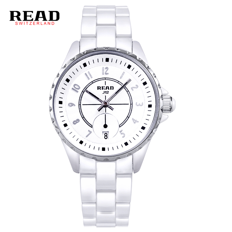 READ ceramic quartz watch women fashion lovers style luxury brand Wristwatches Water Resistant
