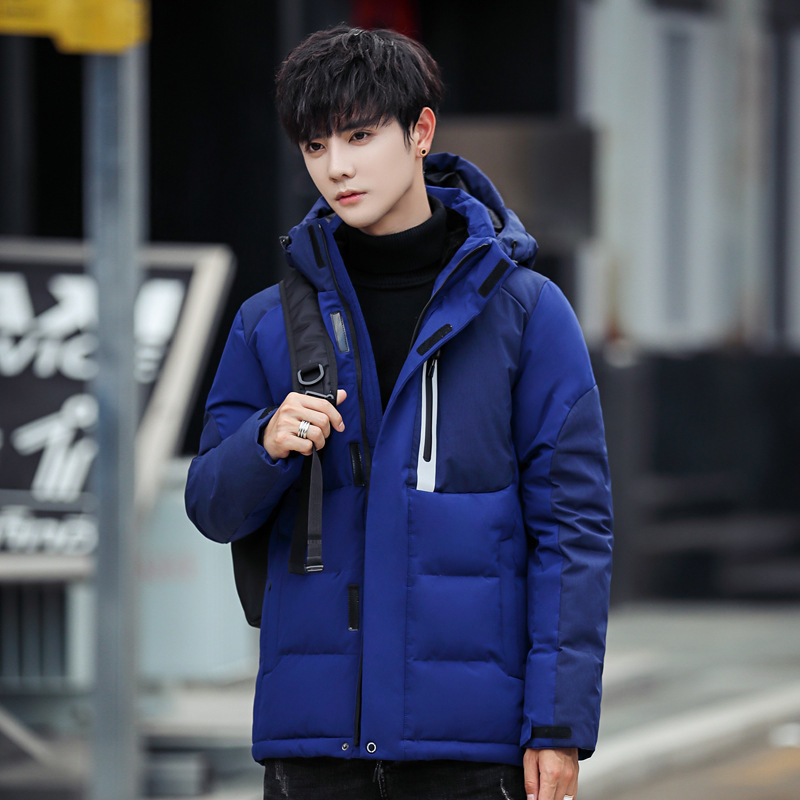 Men short   Down   jacket Mens White Duck   Down     Coat   2019 Autumn Winter Outdoor new casual thicken hooded Clothing BLACK BLUE