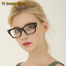 Yi Jiang Nan Brand Cat Eye Glasses Frame for Women Oculos De