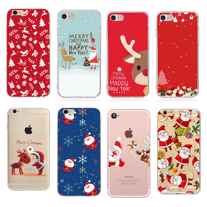 Christmas Case For Apple Iphone 6 Santa Claus 7 8 Plus X 5 5S Se 6S For Huawei P20 P10 P9 Lite P