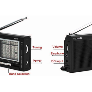 Image 5 - TECSUN R 911 Radio AM/ FM / SM (11 bands) Multi Bands  Receiver Broadcast With Built In Speaker Black and Blue Cheap and Light