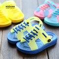 Koovan crianças sandálias 2017 verão estilo bebê chinelos anti-slip suave casual shoes para meninos e meninas das crianças praia shoes