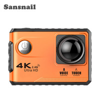 Sansanail F100B Action Camera 4K Ultra HD 2.4G Wifi Mini Camera 2.0 Touch screen 1080P Cam Video Outdoor Helmet Camara