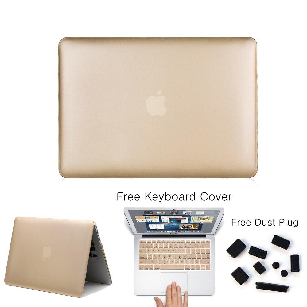 Givré Mat Or Champagne Notebook Laptop Sleeve Pour Macbook Pro 13 15 Air 11 13 Retina 13 15 Coque De Protection Cas