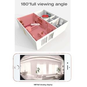 Image 5 - VStarcam WiFi Mini kamera panoramiczne widzenie nocne z wykorzystaniem podczerwieni bezprzewodowe z czujnikiem ruchu Alarm ekran wideo kamera IP C60S różowy