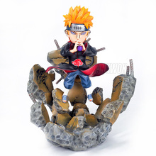 лучшая цена Anime Naruto Akatsuki Nagato Pain Chibaku Tensei Action Figure PVC Collection Model Toys