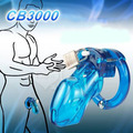 CB3000 medical plastic male chastity device cock cage with lock cock cage penis bondage cages chastity devices sex toys for men