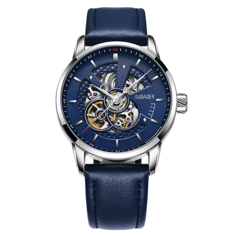 dropshipping Men Mechanical Watches Luxury Automatic Gold Tourbillon Clock Skeleton Transparent Male Wristwatch zegarki meskie