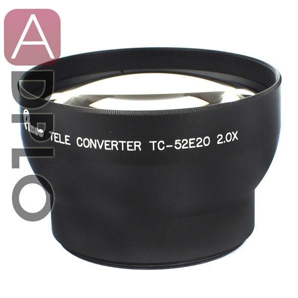 52mm 2.0X Tele Lens Suit For Canon Nikon Sony Pentax Camera Lens (Black)