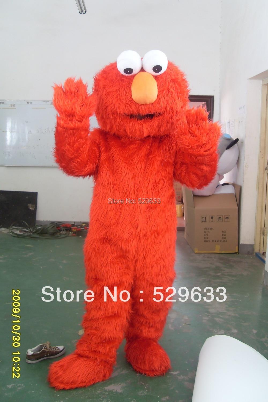 Factory direct selling hoge kwaliteit Lange Bont Elmo Mascotte - Carnavalskostuums
