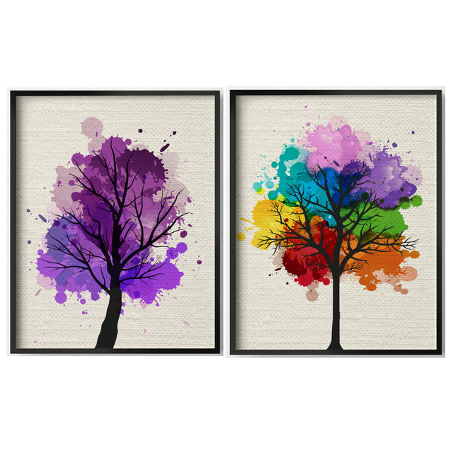 Handmade Modern Abstract Tree Art Painting Landscape