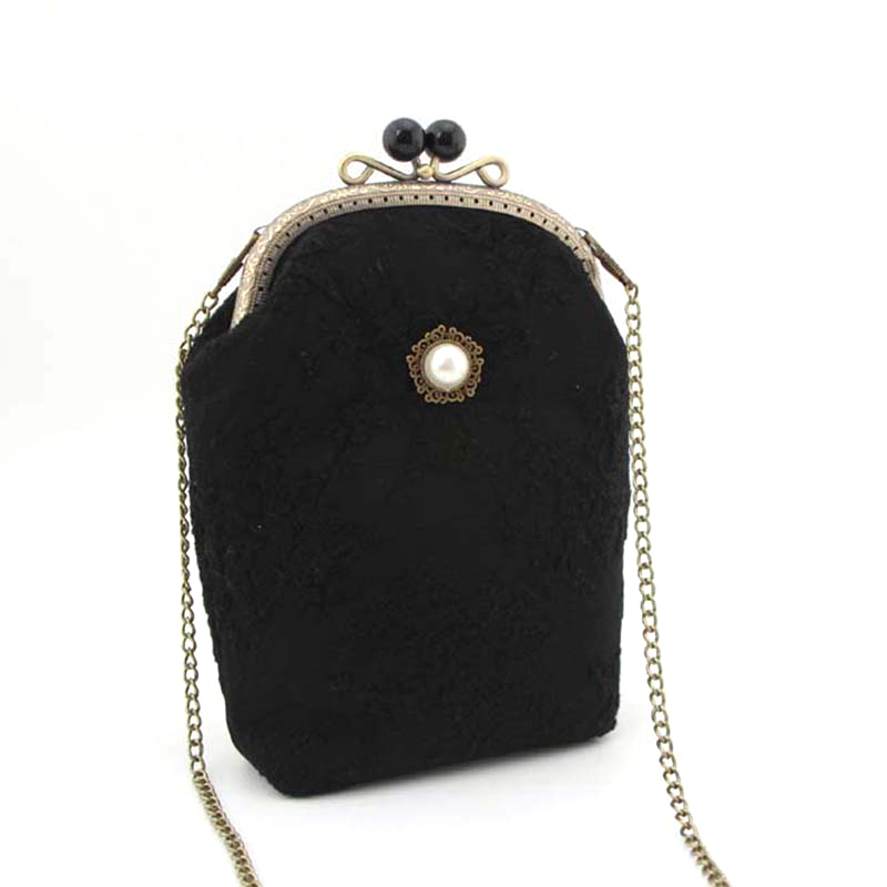 RUBIHOME Handmade DIY Crafts Material for Women Clutch Purse Frame Banquet Wedding Party Purses Chain Bags(no finished)