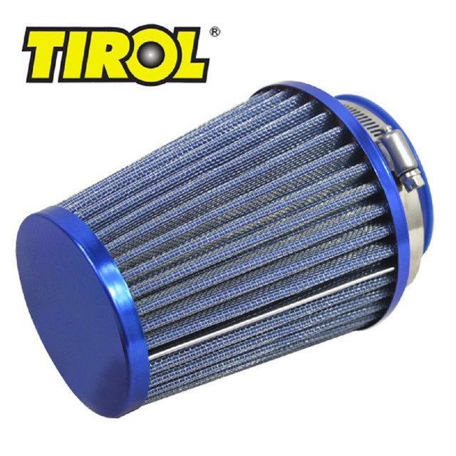 T11649a Tirol Round Tapered Mini Power Stack Motorcycle Air Filters Auto Cold Air Intakes Air Filter Dia 76mm Blue Free Shipping