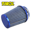 Tirol t11649a afilado afilado redondo mini power stack motocicleta filtros de aire Auto Tomas de Aire Frío Del Filtro de Aire Diámetro 76mm Azul Libre gratis