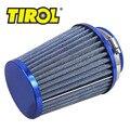 Tirol t11649a rodada cônicos mini power stack filtros de ar da motocicleta Auto Entradas de Ar Frio Filtro de Ar Diâmetro 76mm Azul Livre grátis