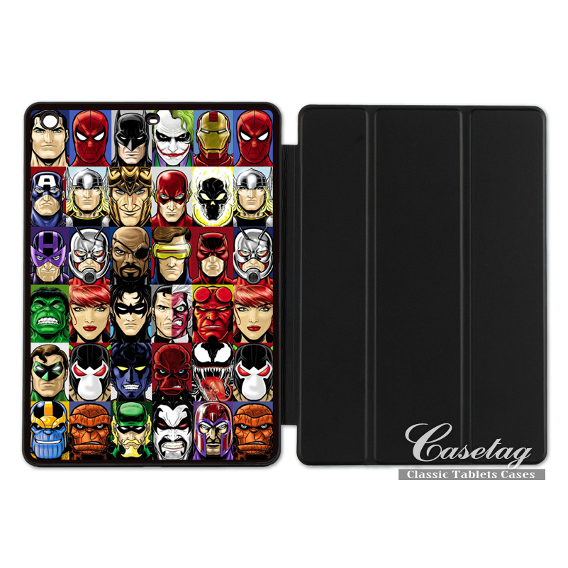 все цены на The Flash Arrow Joker Thor Batman Hero Smart Cover Case For Apple iPad 2 3 4 Mini Air 1 Pro 9.7 10.5 12.9 New 2017 a1822 онлайн