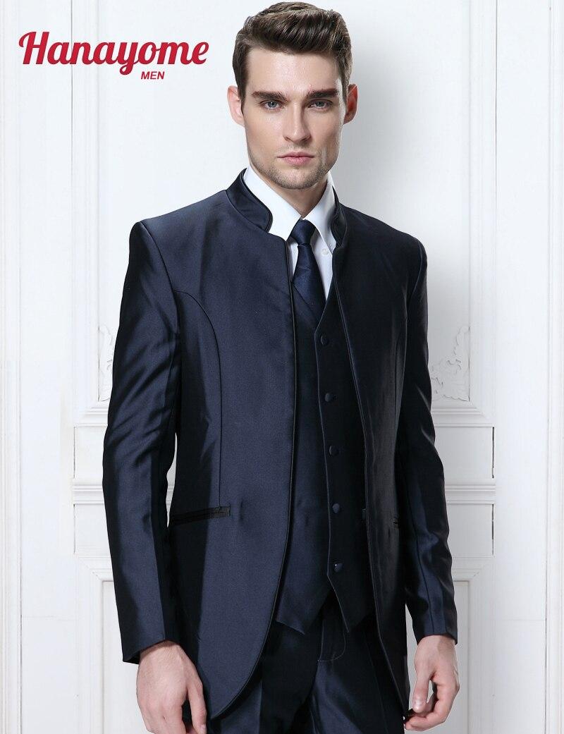 ba6a7dbd1e50 Italian Wedding Suits Men Shawl Collar Fashion Suit 3pcs Set For ...