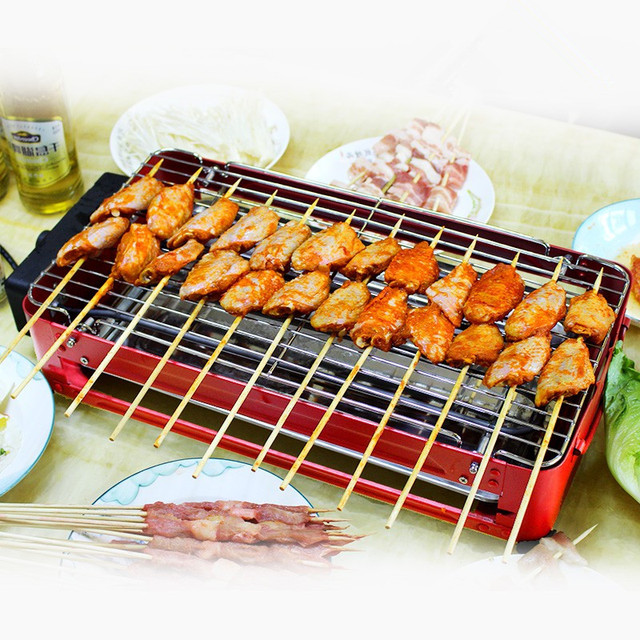 220V 2000W Electric BBQ Grill Non-stick And Smokeless Multifunctional Grill Pan For Family Party EU/AU/UK Plug