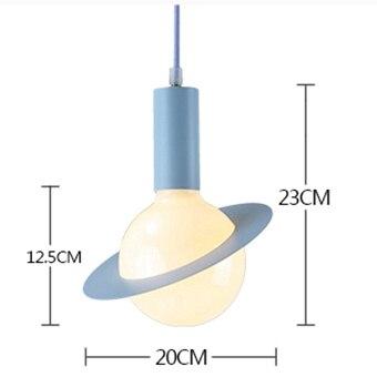 Минималистичные светодиодные подвесные светильники креативная модель небесного тела Nodric гостиная столовая ресторанный магазин Подвесная...