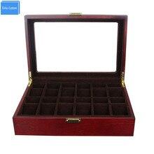 Gift Luxury for Brand Watches Storage&Display Case 12 Grids Box Rose Wood/Walnut/Mahogany Storage Display Cushions