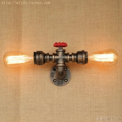 купить Loft Style Iron Water Pipe Lamp Edison Wall Sconce RH Retro Wall Light Fixtures For Home Vintage Industrial Lighting онлайн