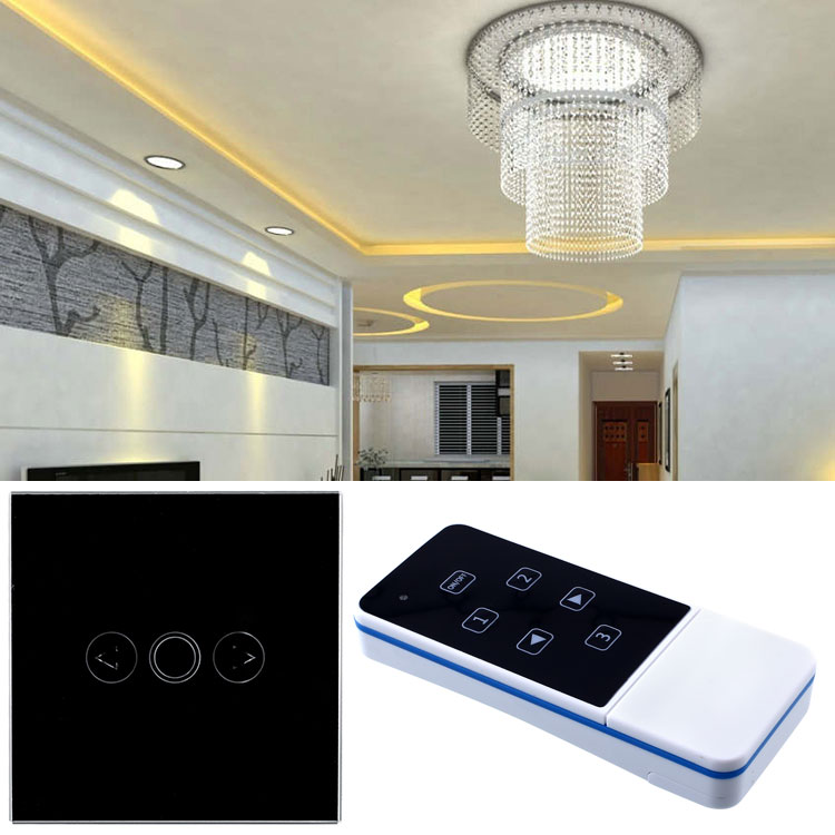 1 Gang Home Light Lamp LED Touch Sensor Remote Control Dimmer Black Crystal Panel Wall Smart Switch AU smart home us au wall touch switch white crystal glass panel 1 gang 1 way power light wall touch switch used for led waterproof