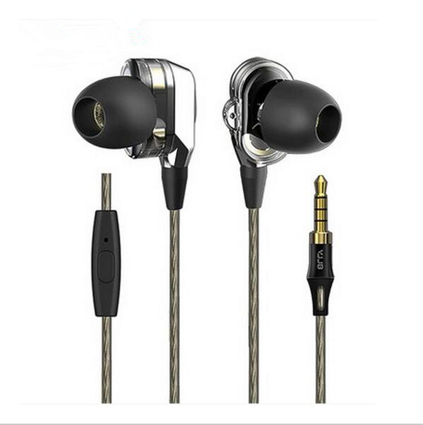 Original VJJB V1 V1S Heavy Bass In Ear Earbuds Ebony Earphone Bass DIY Magic Sound Headset With Mic Or Not 2units 6mm Dynamic vjjb v1 v1s earphone with mic dual driver speakers hifi quality sound metal in ear headset stereo bass monitor sport earbuds