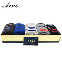 High Quality 5 Pairs Cotton Sock Male Happy Warm Socks Stripes Men Classic Business Brand Mens