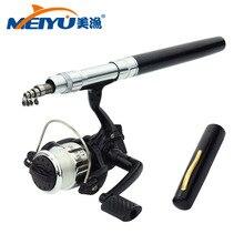 EMMROD 1 Meter Pen Fishing Rod Mini Spinning Wheel Portable Yugan Suit H3 Free Shipping