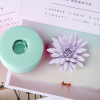przy HC0037 Silica gel 3D molds Purple Lotus silicone soap mold candle mold aroma mould handmade soap making resin clay molds