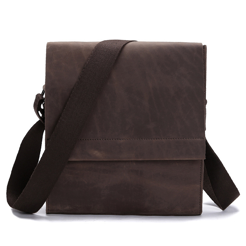 Vintage Simple Style Genuine Leather Messenger Bag Men's Hand-made Shoulder Bag Casual&Business Bags For Ipad sweets made simple