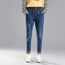 2019 New Special Design Elastic Boyfriend For Women Jeans Woman Plus Size Loose Jeans High Waist Stretch Denim Haren Pants Femme недорго, оригинальная цена