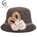 Primavera En El Viejo Damas Tejer Sombrero de Lana Sombreros de Moda Sombrero Cuenca Nueva Cálido Invierno