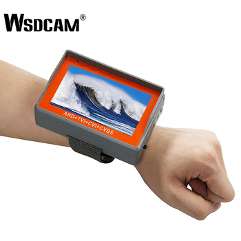 Probador de CCTV de muñeca de 4,3 pulgadas, probador de cámara portátil 1080 P, probador de vídeo analógico AHD TVI CVI CVBS TFT LCD, salida de potencia de 12V