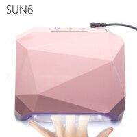 SUN6 AUTO Sensor LED UV Nail Lamp Nail Dryer Diamond Shaped 36W Light 365nm 405nm UV
