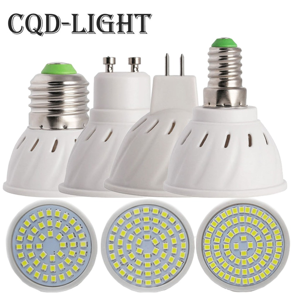 CQD-Light Bombillas led 4W 6W 8W AC 220V /110V SMD 2835LED Spotlight bulbs GU10 MR16 E27 for home Energy Saving Lamp ...