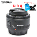 Yongnuo 35mm lens YN35mm F2 lens Wide-angle Large Aperture Fixed Auto Focus Lens Suit For canon EF Mount Cameras Gift x2