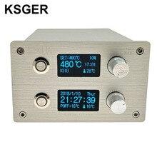 KSGER T12 מלחם תחנה 2 ב 1 SMD אוויר חם אקדח הלחמה & הסרת הלחמה DIY ערכות ואקום חשמלי STM32 בקר OLED