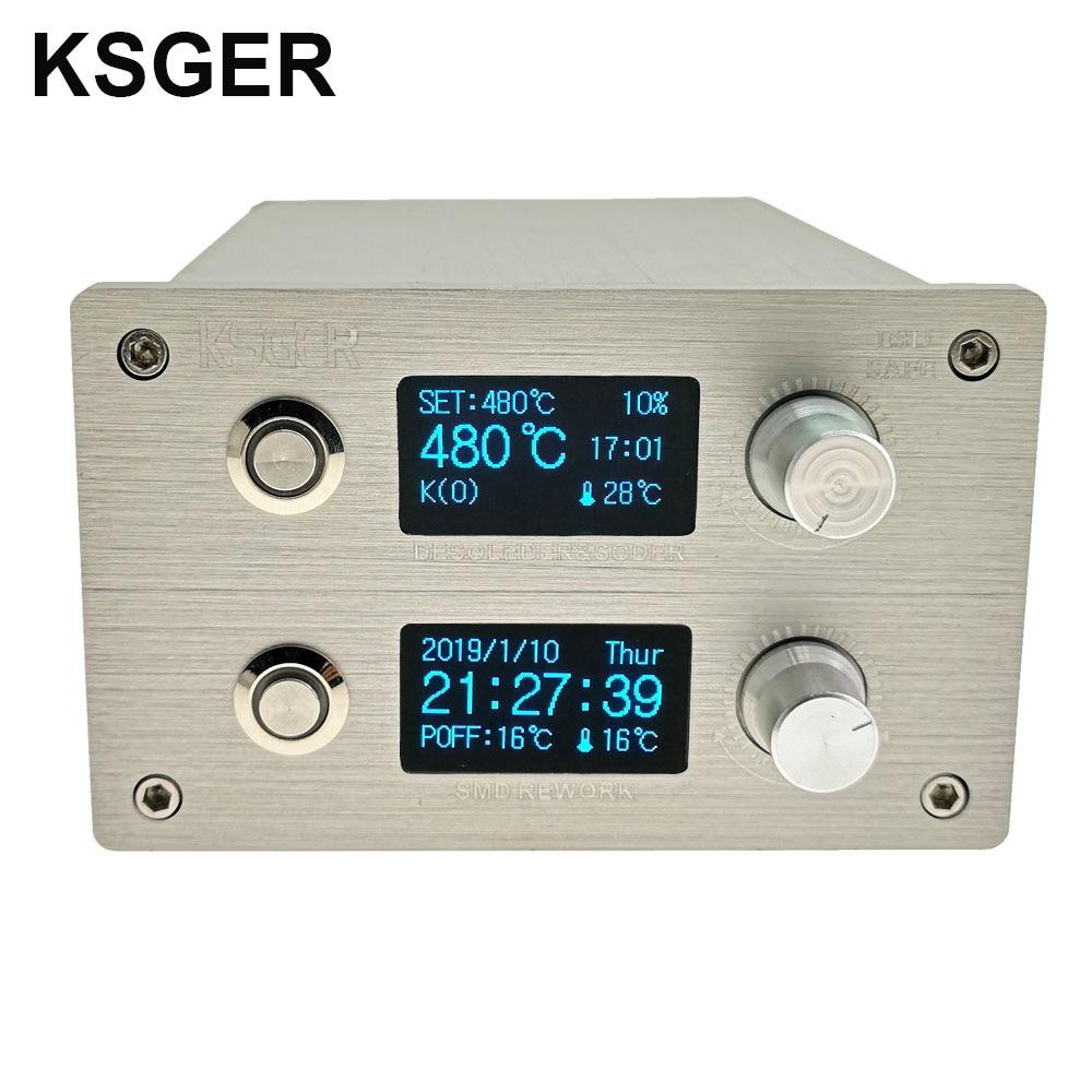 KSGER T12 Soldering Iron Station 2 In 1 SMD Hot Air Gun Soldering & Desoldering DIY Kits Vacuum Electric STM32 Controller OLED|Electric Soldering Irons|   - AliExpress
