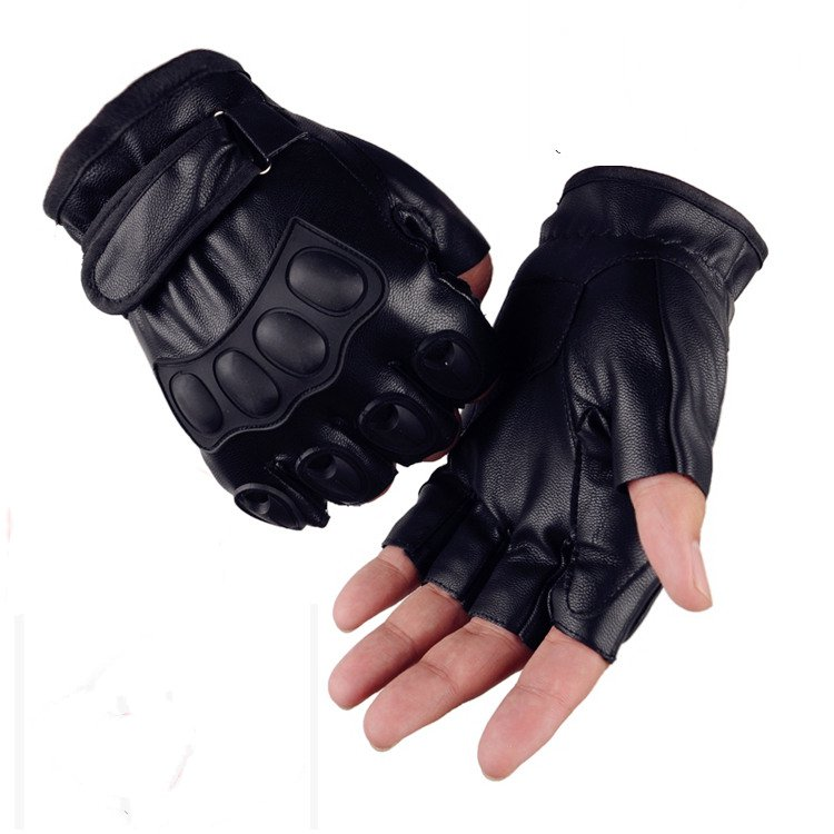 Spring and summer, thin section, non slip dew finger gloves outdoor sports climbing sun riding fitness semi finger gloves
