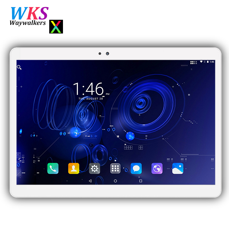 Free shipping 10 inch tablets Android 7.0 Octa Core 4GB RAM 64GB ROM tempered IPS screen GPS 3G/4G Phone Smart Tablet PC 10 10.1 6167 повседневные брюки