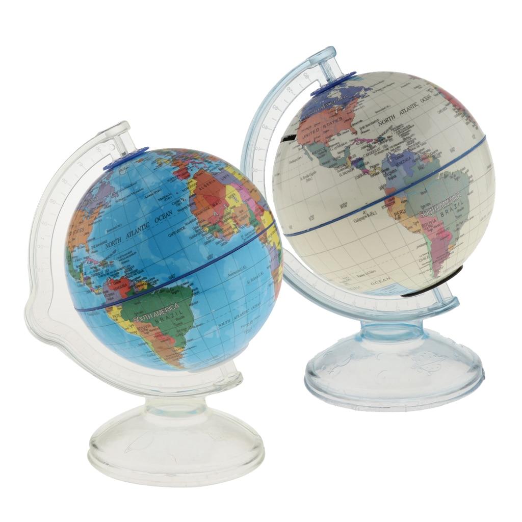 World Globe Coin Bank Money Box -- Teach Kids To Save Money & Learn The World Map