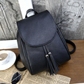 2017 New women bag Women shoulder bag backpack Fashionable young woman bag PU leather Packed cover type Multifunctional backpack