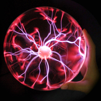 Night Lights Plasma Ball Lamp Produtos inovadores Static Light Sound Sensitive Glass Sphere For Kids Novelty Light Night Lights
