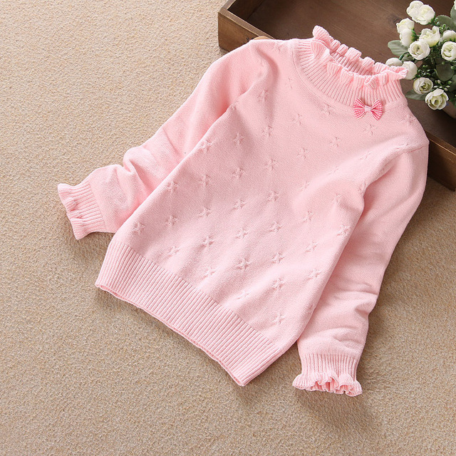 2017 Fashion New Spring Autumn Winter Baby Girls Kids Infant Warm Knitting Sweater Pullover Solid Top Toddler Clothes Clothing